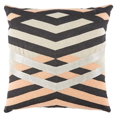 Nikki Chu Harlon Geometric Black/ Pink Throw Pillow