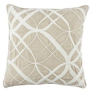 Nikki Chu Calais Geometric White/ Beige Throw Pillow