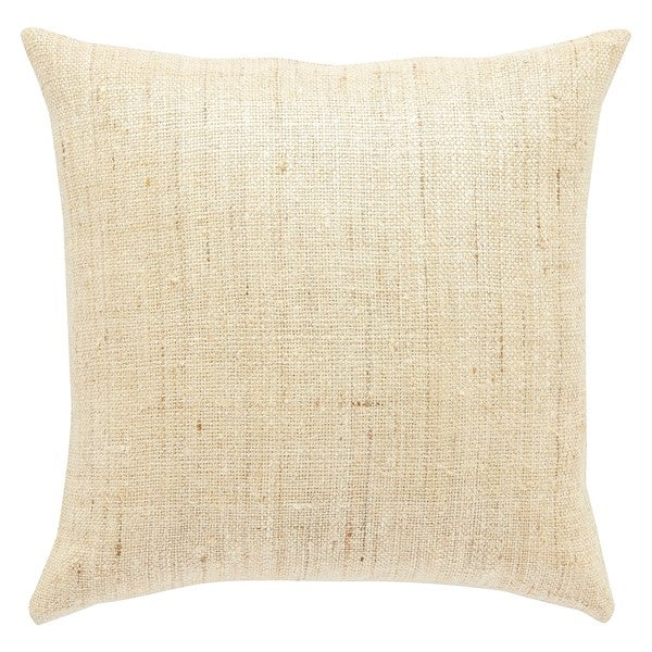 Piana Solid Beige Throw Pillow