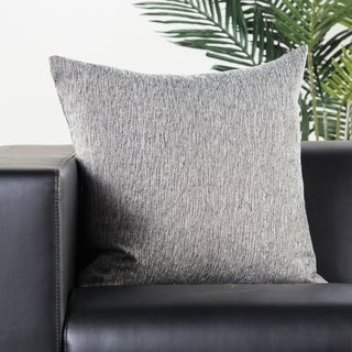 Halley Solid Black/ White Throw Pillow