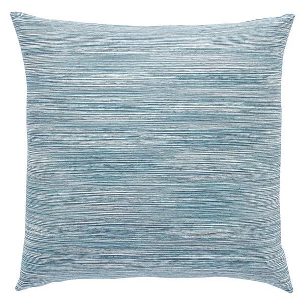 Pheonix Solid Aqua/ White Throw Pillow