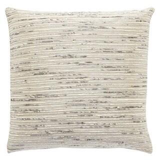 Flint Solid Silver/ Gray Throw Pillow