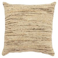Geode Solid Beige/ Brown Throw Pillow