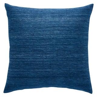 Kiona Solid Blue Throw Pillow