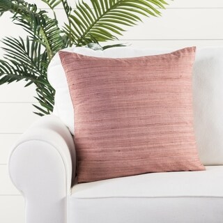 Crisanta Solid Mauve Throw Pillow