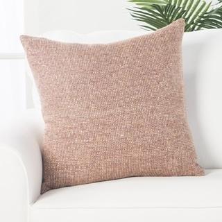 Tamsin Solid Tan/ Mauve Throw Pillow