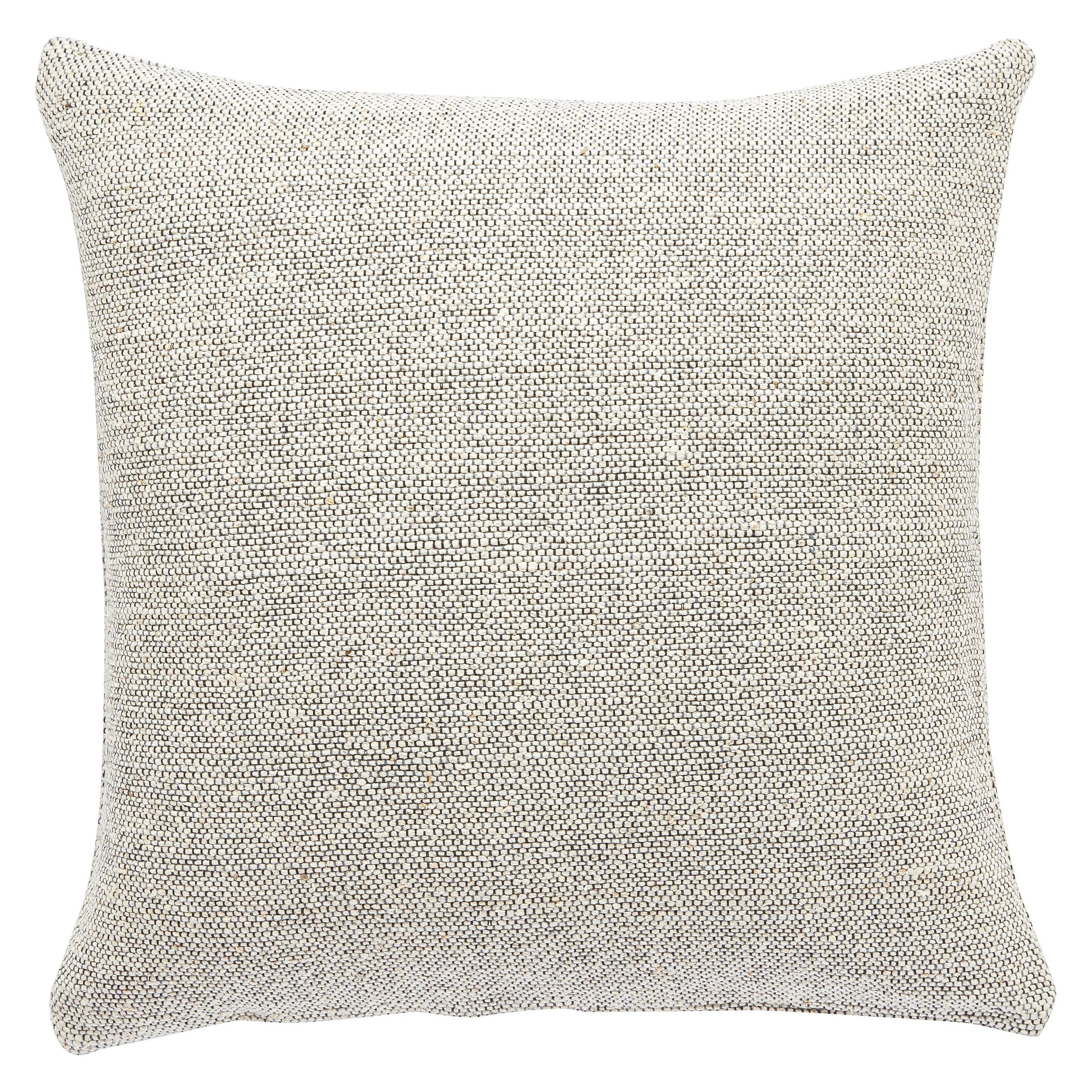Crispin Solid Gray Cream Throw Pillow Overstock 16389838