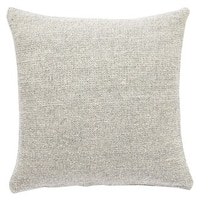 Crispin Solid Gray/ Cream Throw Pillow
