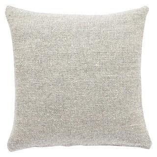 Crispin Solid Gray/ Cream Throw Pillow