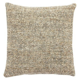 Piers Solid Black/ Tan Throw Pillow