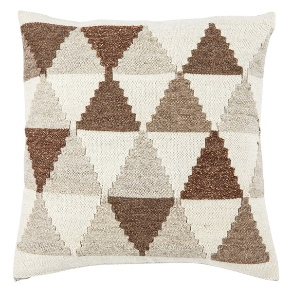 Leif Geometric Brown/ Gray Throw Pillow