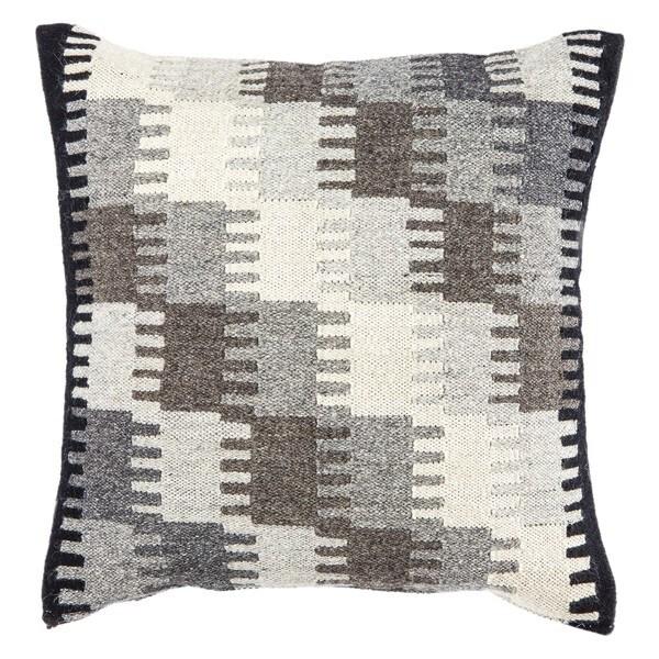 Juni Geometric Gray/ Taupe Throw Pillow