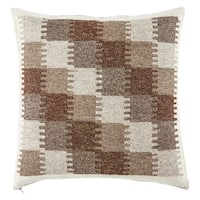 Juni Geometric Brown/ Gray Throw Pillow