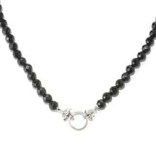 Dallas Prince Sterling Silver Black Onyx Toggle Necklace
