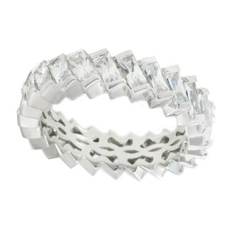 Michael Valitutti Sterling Silver Baguette Cubic Zirconia Ring