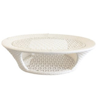 South White Oval Coffee Table
