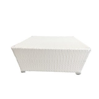 Dreamy White Wicker Coffee Table
