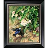 Marianne North 'Brazilian Flowers' Hand Painted Framed Oil Reproduction on Canvas