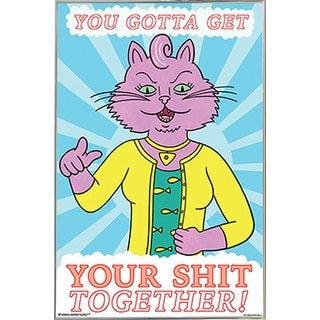BoJack Horseman - Princess Carolyn Poster in a Silver Metal Frame (24x36)