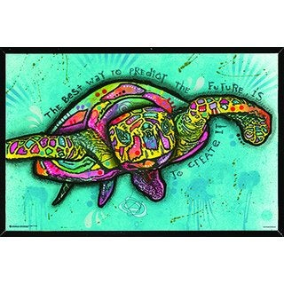 Turtle By Dean Russo Poster on a Black Plaque (36x24)