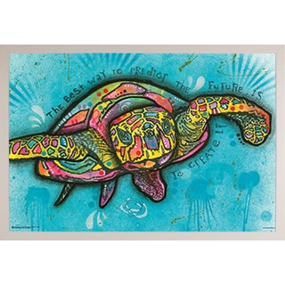 Dean Russo 'Turtle' White Plastic Framed Poster