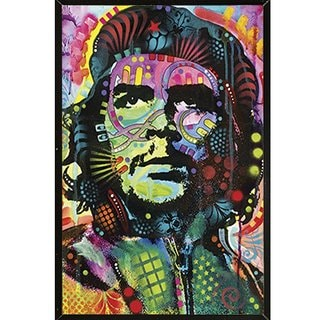 Che Guevara By Dean Russo Poster on a Black Plaque (24x36)