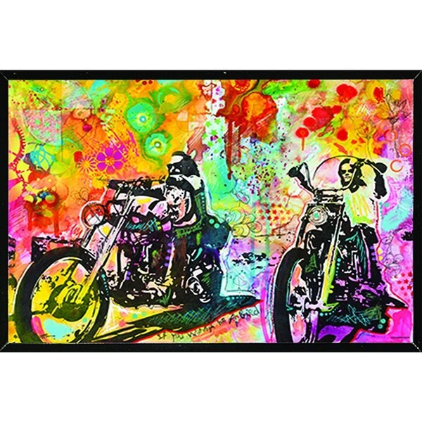 Easy Rider By Dean Russo Poster on a Black Plaque (36x24)