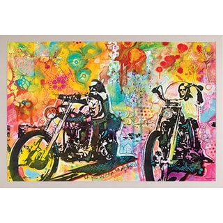 Dean Russo 'Easy Rider'  White Plastic Framed Poster
