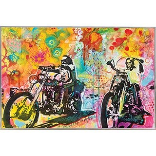 Easy Rider By Dean Russo Poster in a Silver Metal Frame (36x24)