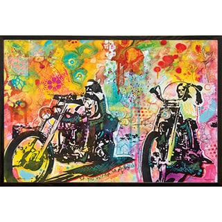 Dean Russo 'Easy Rider' Walnut Wood Framed Art Print