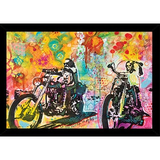Easy Rider By Dean Russo Poster in a Black Poster Frame (36x24)