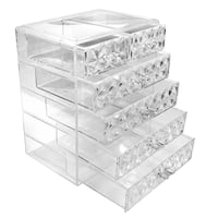 Makeup Diamond Pattern Storage Organizer