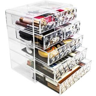 Sorbus Makeup Diamond Pattern Storage Organizer