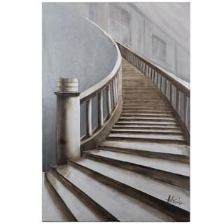 Yosemite Home Decor 'Up Stairs' Original Hand-painted Canvas Art