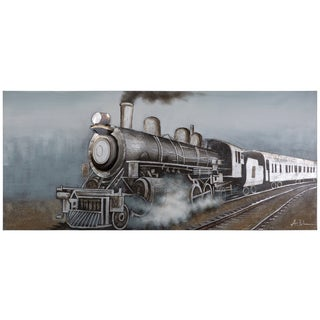 Yosemite Home Decor 'Onward' Original Hand-painted Canvas Art