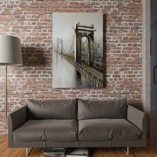 Yosemite Home Decor 'Gateway to the City' Original Hand-Painted Canvas Art|https://ak1.ostkcdn.com/images/products/16391092/P22741691.jpg?impolicy=medium