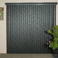 Fresco Black Textured Vinyl Veritical Blind, 60 inches Long x 36 to 98 inches Wide