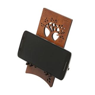 Woodart Brown Cellphone Support/Holder for Desk and Tabletop