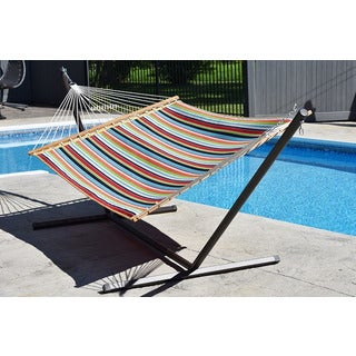Vivere Home Outdoor Sunbrella Quilted Hammock - Double