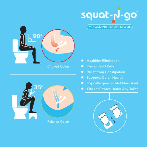 Admirable Shop Squat N Go 7 Inch Foldable Toilet Stool Free Shipping Cjindustries Chair Design For Home Cjindustriesco