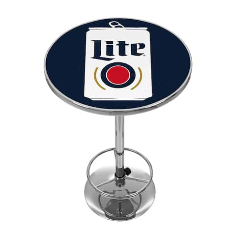 Miller Lite Chrome Pub Table - Minimalist Can