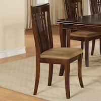 Brassex 877-22 Felix Fabric Side Chairs (Set of 2)