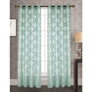 RT Designers Collection Knox Jacquard 84-inch Grommet Curtain Panel
