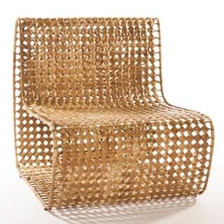 Ana Beige Wrought Iron/Banana Leaf Lounge Chair