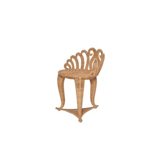 Seagrass/Wrought Iron Clam Stool