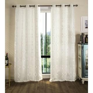 RT Designer's Collection Tasha Jacquard 84-inch Grommet Curtain Panel Pair