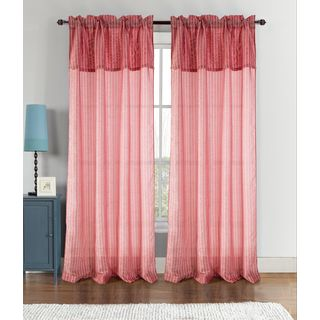 RT Designer's Collection Vance 90-inch Rod Pocket Curtain Panel with Attached Valance