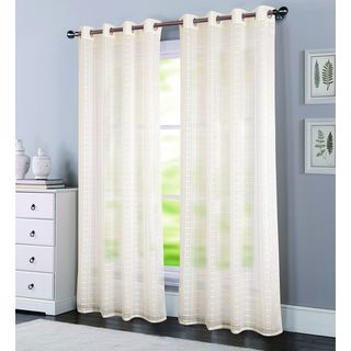 Porch & Den Elmhurst Modena Box Voile 90-inch Grommet Curtain Panel