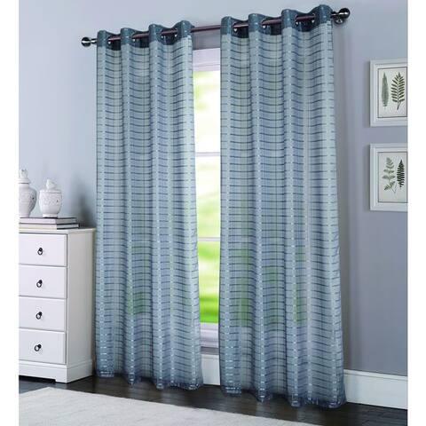 Porch & Den Modena Box Voile 90-inch Grommet Curtain Panel