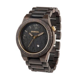 WEWOOD Men's Alpha Black Gold Scratch-proof Mineral Glass Watch WALBG